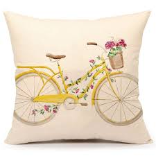 vintage retro home decor amazonsmile watercolor retro bicycle and flowers vintage home