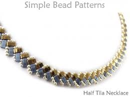 making necklace with bead images Half tila bead pattern jewelry making tutorial by simple bead patterns jpg