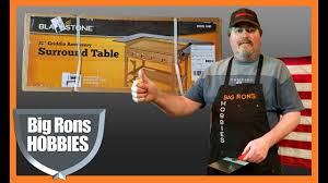 blackstone griddle surround table blackstone griddle surround table unbox and install youtube