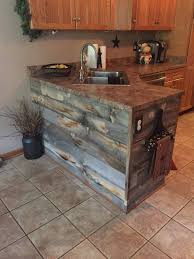 Reclaimed Wood Kitchen Cabinets Best 25 Rustic Kitchen Island Ideas On Pinterest Rustic