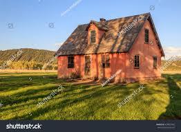 historic old farm house wyoming usa stock photo 429857962