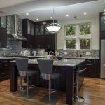 Espresso Kitchen Cabinets With Granite Furniture Captivating Espresso Kitchen Cabinets With Backsplash