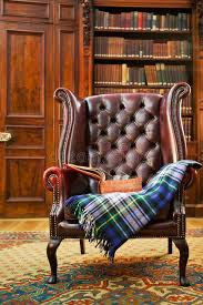 Tartan Chesterfield Sofa Traditional Chesterfield Armchair Stock Photo Image Of Heritage