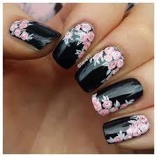 25 elegant black nail art designs flower nail art flower nails