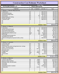 Safety Tracking Spreadsheet 9 Building Construction Estimate Spreadsheet Excel Download