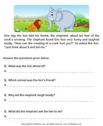 reading comprehension grade 1 worksheets read comprehension and and answer the questions