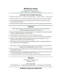 Customer Service Representative Resume Entry Level Sample Of Customer Service Resume Resume Template And