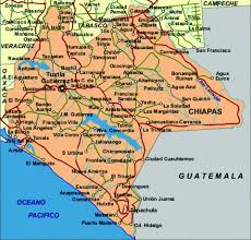 chiapas mexico map where is chiapas mexico on the map mexico map