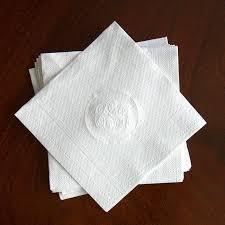 embossed beverage napkins