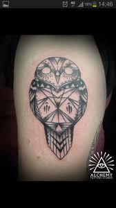 an owl by will from alchemy tattoo melbourne australia tattoos