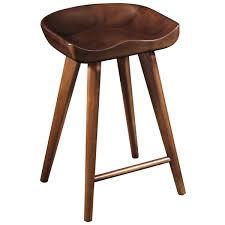 banco para bar stool de madera solida de nogal grgfurniture