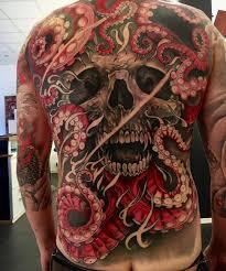 octopus skull wip by eviltwinsjohan at evil twins tattoo in