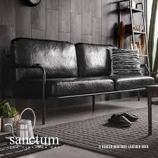 Soft Leather Sofa Sanctum Soft Leather Sofa 3 Seater Bedandbasics Sg
