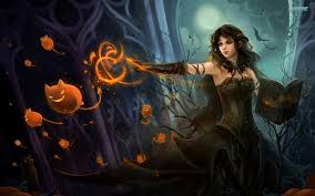 fantasy wallpaper and backgrounds satanic witch wallpaper