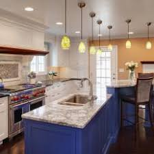 blue kitchen island photos hgtv