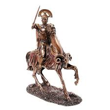 ares greek god of war on horseback statue mars statue