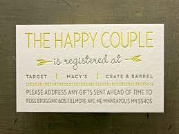 bridal registrys best 25 wedding invitation wording exles ideas on