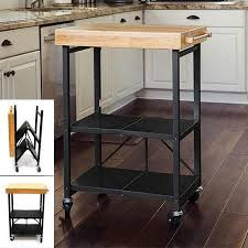 origami folding kitchen island cart buy silver origami folding butcher block kitchen rolling cart in