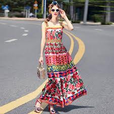 bohemian fashion 2017 summer designer runway maxi bohemian dress women s