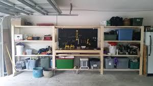 Garage Workbench Designs Ana White Modified Garage Shelf W Workbench Diy Projects