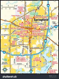 springfield map springfield illinois area map stock vector 139178075
