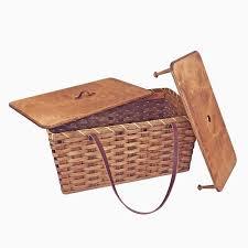 vintage picnic basket amish made large vintage picnic basket with tray amish baskets