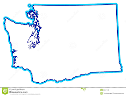 Blank Map Of Northeast States by State Of Washington Outline Royalty Free Stock Photo Image 3934145