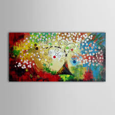 Canvas Home Store by Iarts Colorful Christmas Tree Wall Art Canvas Home Decor Handmade