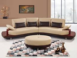 Curved Contemporary Sofa by Decoration Modern Curved Sofa With Contemporary Style Leather