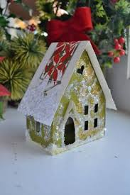 my tutorial for making glitter house ornaments from christmas