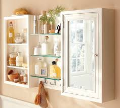 Diy Bathroom Storage by White Stained Wooden Frame Glass Window Diy Bathroom Storage Ideas