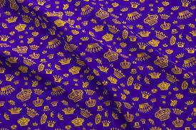 crown fabric wallpaper gift wrap spoonflower royal crowns gold on purple