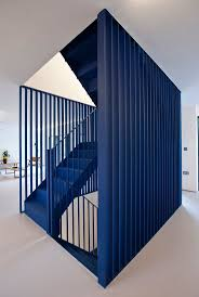 best ideas about staircase design pinterest stair dezeen london studio projects has reconfigured and refurbished house owned fashion designer roksanda ilincic adding blue steel staircase