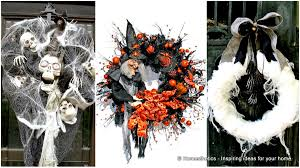 Black Halloween Wreath 15 Mysterious Chilling And Creepy Halloween Wreath Designs To Realize
