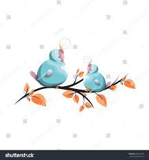 cute birds topknot on tree branch stock vector 648672205 cute birds with topknot on a tree branch design elements home children s room