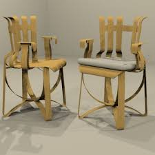 Frank Gehry Outdoor Furniture by Knoll Studio Frank Gehry Hat Trick Arm Chair 3d Model Formfonts