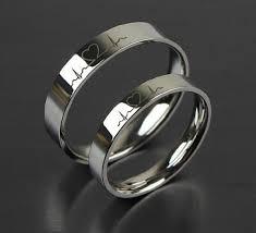 wedding rings for couples 1pcs free engraving purple titanium rings sets token