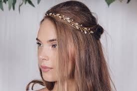 jewelled headband silver gold or gold wedding headband india by debbie