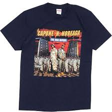 supreme shirts supreme capone noreaga navy wear official