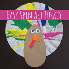 toddler approved easy spin turkey craft