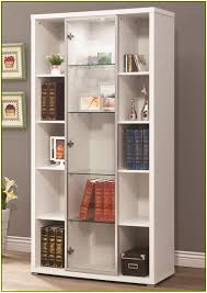 alluring glass door bookshelves design ideas design ideas