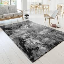 Wohnzimmer Grau Creme Designer Teppich Modern Arizona Leinwand Optik In Grau Creme