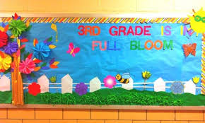 3rd Grade is in Full Bloom Spring Bulletin Board
