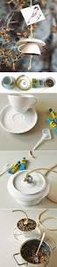 diy home decor ideas tea cup bird feeder step by step