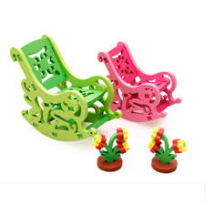 build bedroom furniture promotion shop for promotional build wooden toys diy 3d assembly furniture bedroom dinette for children kids educational toys puzzle rocking chair