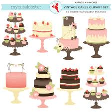 wedding cake clipart classic vintage cakes clipart set clip rustic cake