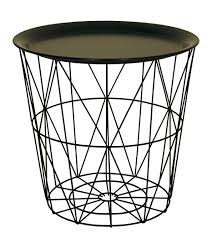 Wire Side Table Small Wire Side Table With Black Metal Tray Lid Co Uk