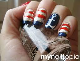 126 best nailed art images on pinterest nail art nautical nail
