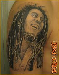 bob marley tattoo in black art the african american body as art