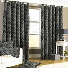 Lined Grey Curtains Black Lined Eyelet Curtains Nrtradiant Com